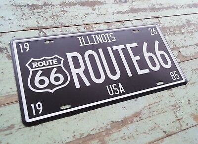 ROUTE 66 VINTAGE METAL SIGN RETRO EMBOSSED IRON LICENSE PLATE #HR66 BAR DECOR
