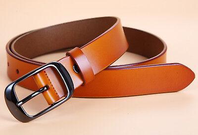 Women's Jean Belt, Classic Buckle Handcrafted Genuine Leather Belt 7