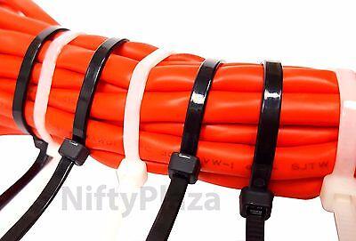 NiftyPlaza 14 Inch Cable Ties - Heavy Duty - 50 LBS 100 Pack Nylon Wrap Zip Ties 11