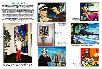 Volker Welz Künstler Flyer Kunstausstellung Kunst Essen Steele im Stadtgarten AK 3