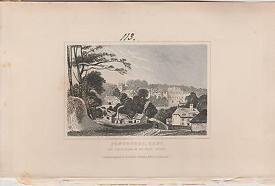 1846 Six Antique Prints- KENT -Dartford, Dover, Northfleet, Gravesend, Penshurst 5
