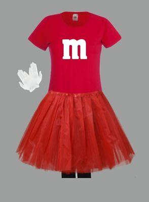 M&M Kostüm MM Fans Tüllrock Damen T-Shirt Tutu Tütü Fasching Gruppenkostüm 8