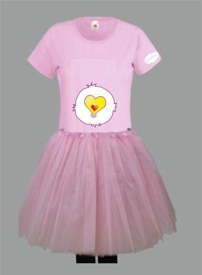 Kostüm für Glücksbärchi Fans Damen T-Shirt Tütü/Rock Gruppenkostüm Karneval JGA 6