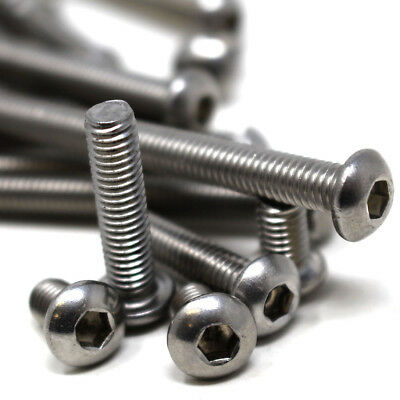 8mm Button Head Bolts M8 x 16mm A2 Stainless Steel Socket Allen Key Dome Head Bolt//Screws Free UK Delivery 5 Pack