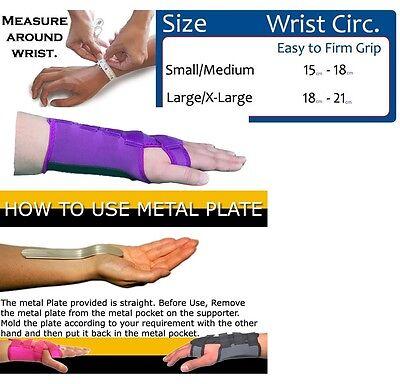 LTG Neoprene Wrist Support Brace Splint Carpal Tunnel Sprain Strain Arthritis