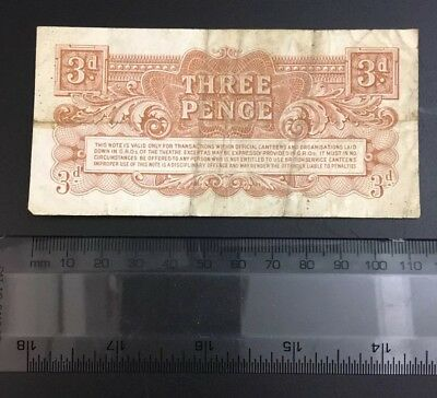 Special Armed Forces 3d (pence) Money Note 3