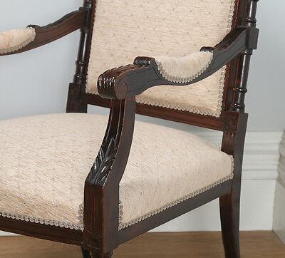 Antique French Louis XVI Style Walnut Salon Occasional Armchair (Circa 1880) 5