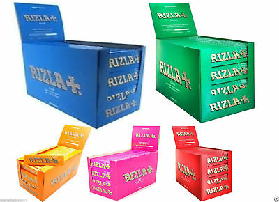 Raw Classic Rizla King Size Slim 110mm Natural Unrefined Rolling Papers Full rzP 5