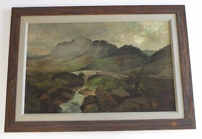 Mystery Artist Antique 19Th Century Painting Landscape River Stream Masterful 3