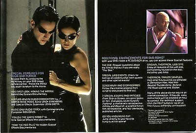 "DVD ""The Matrix"" (1999) Keanu Reeves, Laurence Fishburne 3"
