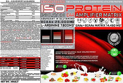 Muskelaufbau Isolate Matrix Whey 90 extrem Eiweiss Protein 5kg Glutamin Amino 2