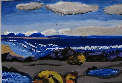 """A809          Acrylic Art Aceo Painting By Ljh      """"Snowy Landscape"""" 6"""