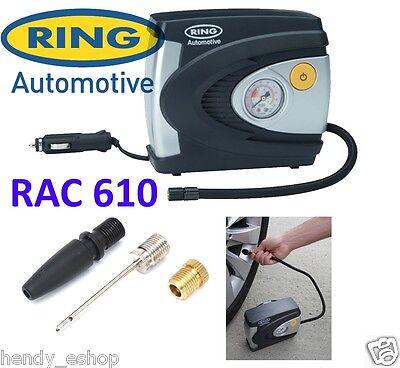 Ring RAC610 12v Car Tyre Analogue Gauge Air Compressor Inflator Electric Pump 2