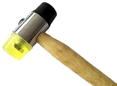 Ausbeulhammer 35 mm Hammer Holzstiel 350 Gramm Gummihammer