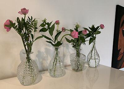 4x Deko-Flaschen Glasvase Tischvase 20cm Set Blumenvase Glasflasche Vase Väschen 4