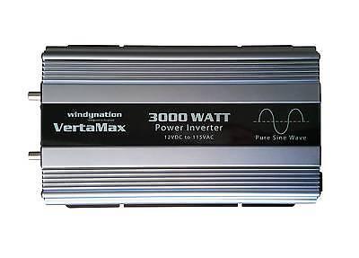 VertaMax 3000 Watt (6000W) Pure Sine Wave Power Inverter 12V Battery RV, Solar 5