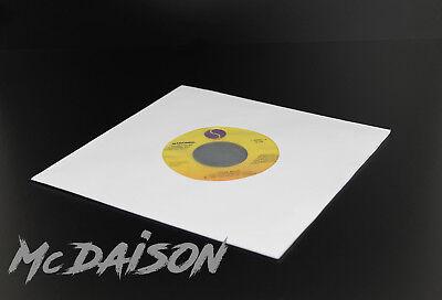 "McDAISON - 100 buste carta forata per dischi 45 giri 7"" BIANCHE con VELINA 3"