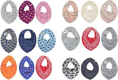 *PIPPI* Baby Halstuch Lätzchen Dreieckstuch im 3er Pack-  ideal beim Zahnen 6