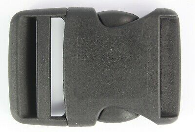Rounded Side Release Buckles Black Plastic Clips Rucksacks Replacement All Sizes 2
