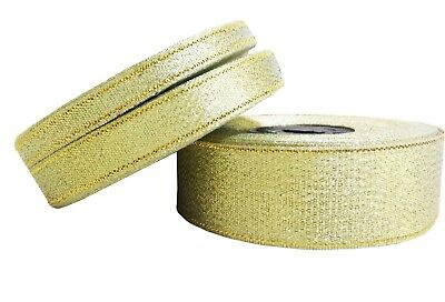 2 or 5 reels 25yds 6mm Glitter Sparkle Organza Sparkly Ribbon Gold Silver 1
