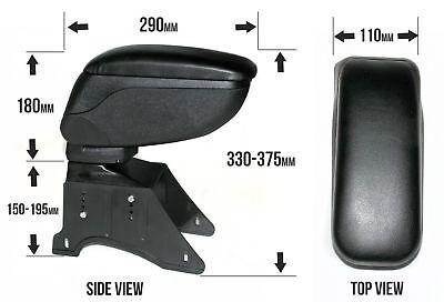 Noir Coulissant Accoudoir Centre Console Boîte de rangement pour MG Rover Mini Cooper