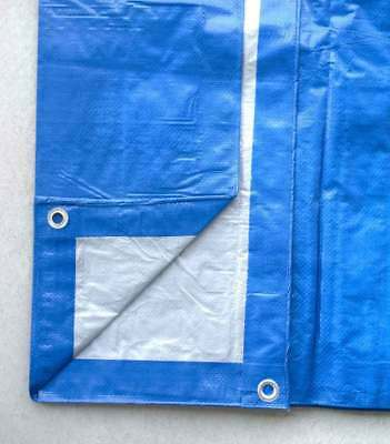 Blue Silver Poly Tarp 5 Mil Water Resistant Outdoor Weather Reversible UV Cover 7