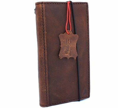 genuine real vintage leather case for Google Pixel 2 book wallet cover holder ID 9