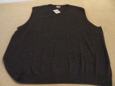 Phenix Cashmere Big and Tall Mens 100/% Cashmere V-Neck Sweater Vest