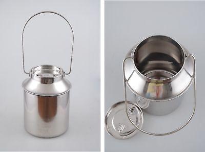 Bidon à lait avec Couvercle 2,5L en acier inoxydable Bouteille Pot Cruche Inox 2