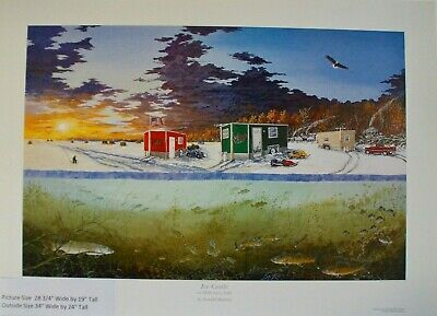 Donald Blakney Ice Castle on Mille Lacs Lake Print 2