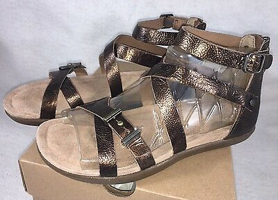 36c97d882ab 1 of 12FREE Shipping UGG WOMEN S CHERIE GOLD Metallic PONY BROWN LEATHER  GLADIATOR SANDALS 1009851