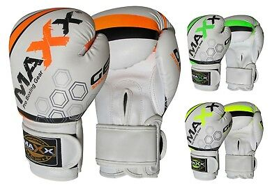 Maxx Boxing Gloves Rex Leather Fight Punch Bag Training MMA Grappling Muay Thai 2