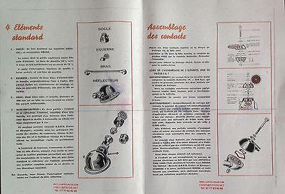 Rondelle de glissement + contact onduflex COPPER CONTACTS lampe JIELDE + notice 4