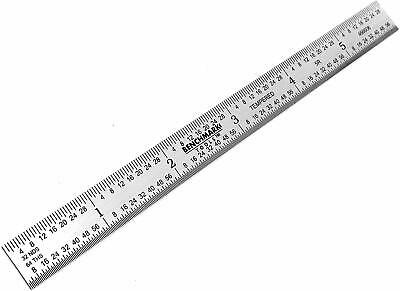 """Benchmark Tools 2 Ea 6"""" 5R Flexible Machinist Ruler Grad Brushed Stainless Steel 3"""
