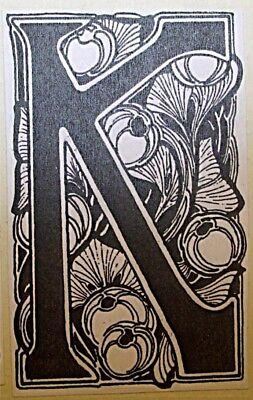 "Beautiful ""Arts & Crafts"" Letter ""K"" 3"