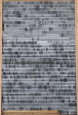 Bleischrift 10,5mm - 28p  Bleisatz Buchdruck Alphabet Handsatz Bleilettern ABC 2