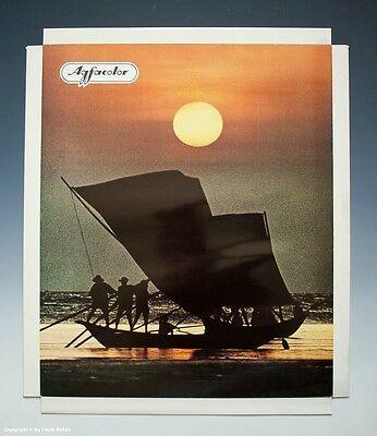 Konvolut 5 x Agfacolor Reklame Aufsteller Urlaubsmotive um 1970-1971 10