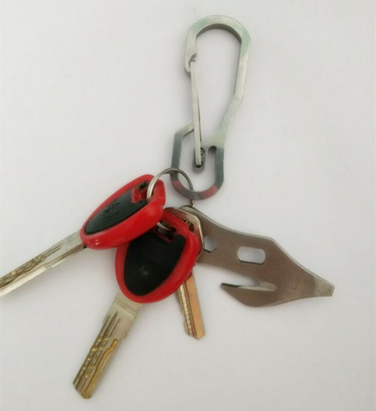 Stainless Steel Climbing Carabiner Key Chain Clip Hook Buckle Keychain Outdoor 7