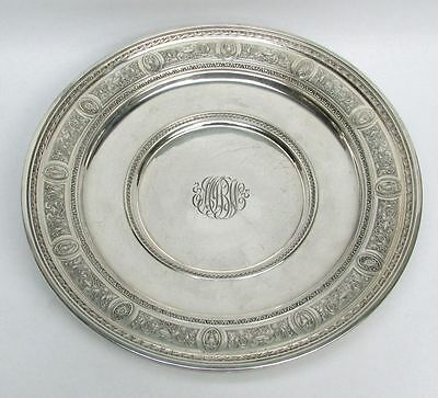 International 1924 Wedgwood Pattern Sterling Silver Low Footed Cake Plate #H86 2