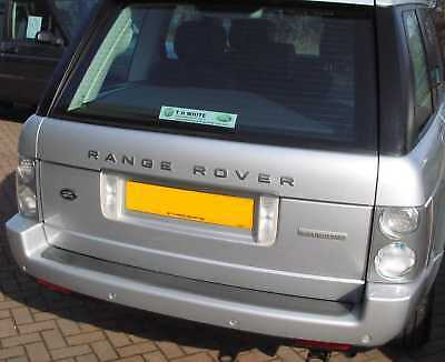 Land Rover Discovery black+Silver Oval rear badge upgrade 1 2 3 LR3 logo genuine 6
