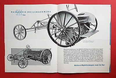Prospekt von Lindner Ammendorf bei Halle 1936/37 HALLENSIS Drillmaschin.( F16381