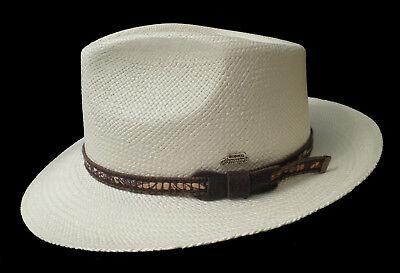 "Panama Hat Gr.57 Curved Brim "" Made in Ecuador "" Fiber from Toquillas 5"