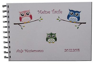 Gästebuch Fotoalbum Taufe Geschenk Karte Einladung Baby