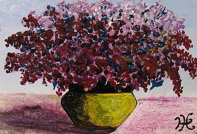 "C311    Original Acrylic  Painting By Ljh  ""Rose Bowl"" 10"