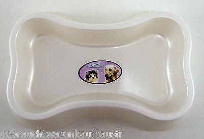 Futternapf Wassernapf für Hund Katze Haus & Kleintiere 3Stk. knochenförmig weiß 2