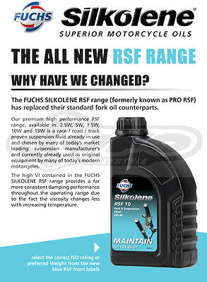 Silkolene RSF 2.5W Fork & Suspension Fluid 1 Litre 1L