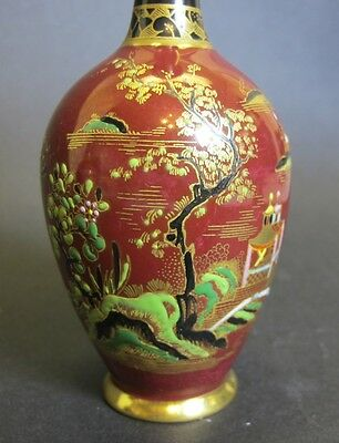 Superb Pair Of Carlton Ware Vases C 1930 Mint Chinese Temple Art