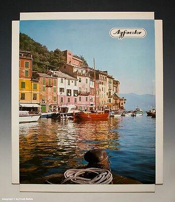 Konvolut 5 x Agfacolor Reklame Aufsteller Urlaubsmotive um 1970-1971 6