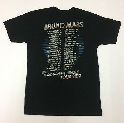 Authentic Bruno Mars Tour Merch 2013 RARE Pop star 90s Funk Moonshine Jungle Fan 6