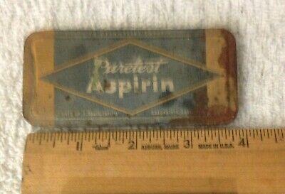 Antique Tin, Puretest Aspirin, Rexall Drug Stores, made by United Drug 6